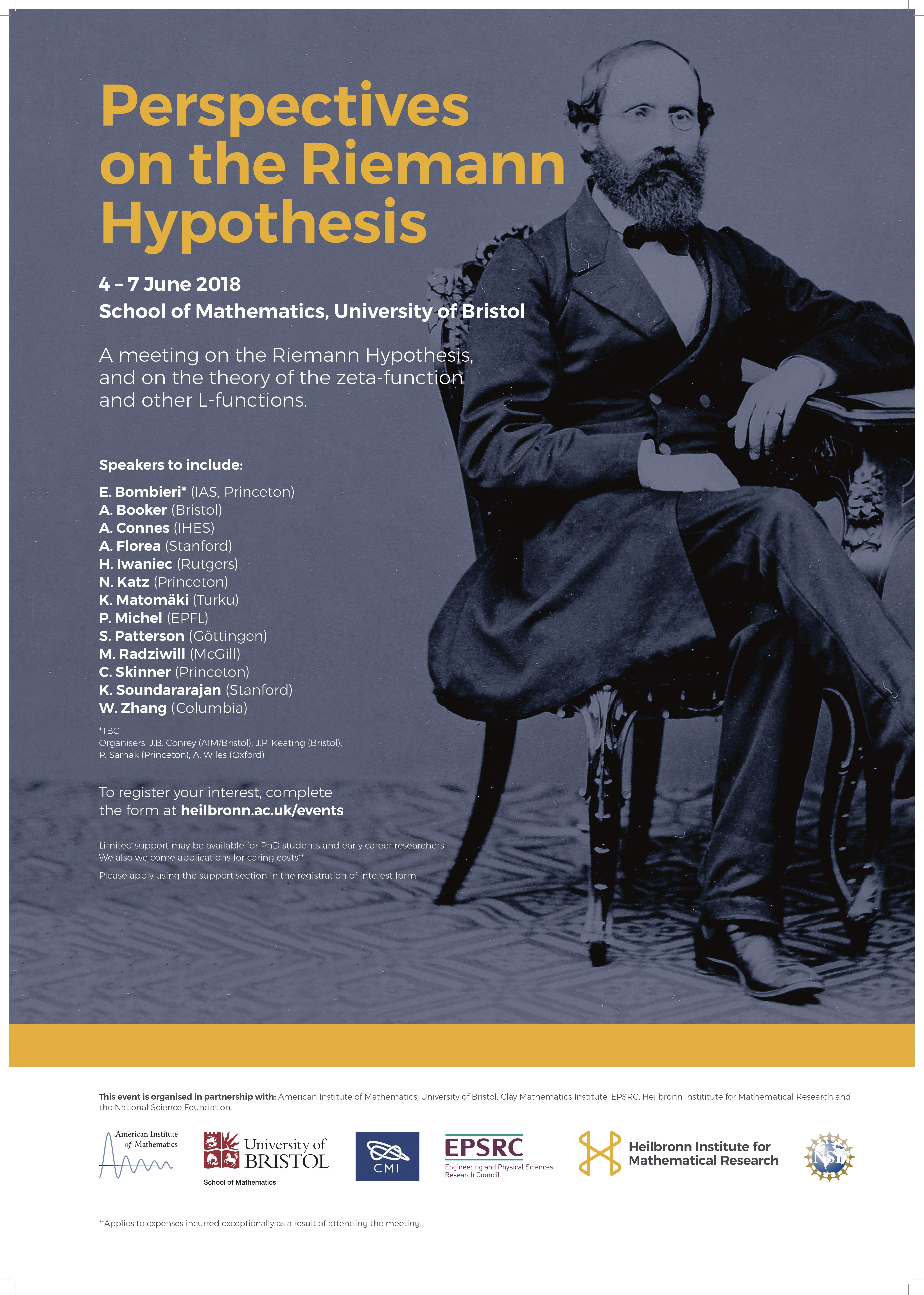 Riemann Hypothesis conference poster